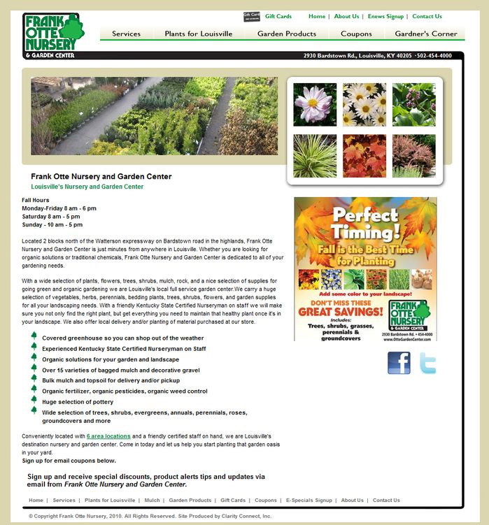 Frank Otte Nursery Garden Center CCI Client
