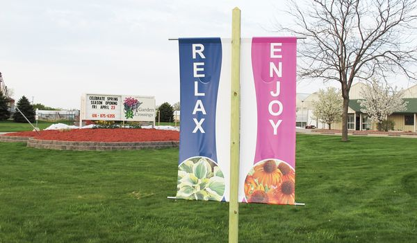 Attractive Large, Easy To Read Roadside Banners For Garden Crossings In Zeeland, MI