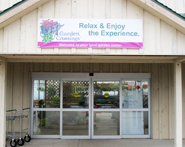 The Welcome Banner Reminds The Customer That Garden Crossings Is Their  LOCAL Garden Center.