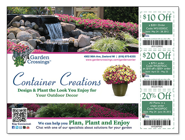 The official store of Garden Crossings Coupon & Deals offers the best prices on Site and more. This page contains a list of all Garden Crossings Coupon & Deals Store coupon codes that are available on Garden Crossings Coupon & Deals store. Save 50% Off on your Garden Crossings Coupon & Deals purchase with the Garden Crossings Coupon & Deals.