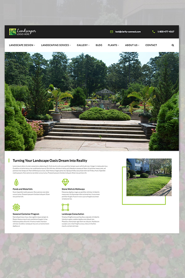 One of 3 landscape template options we offer.