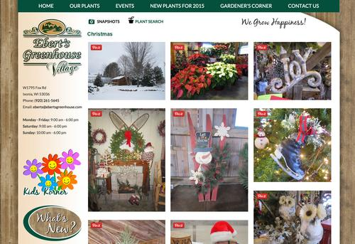 All the images assigned to the 'Christmas' album display in a 'Pinterest Style' album.