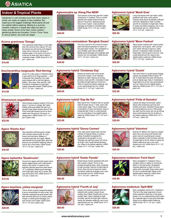 This page style has up to 27 plants per page, each with a small image.