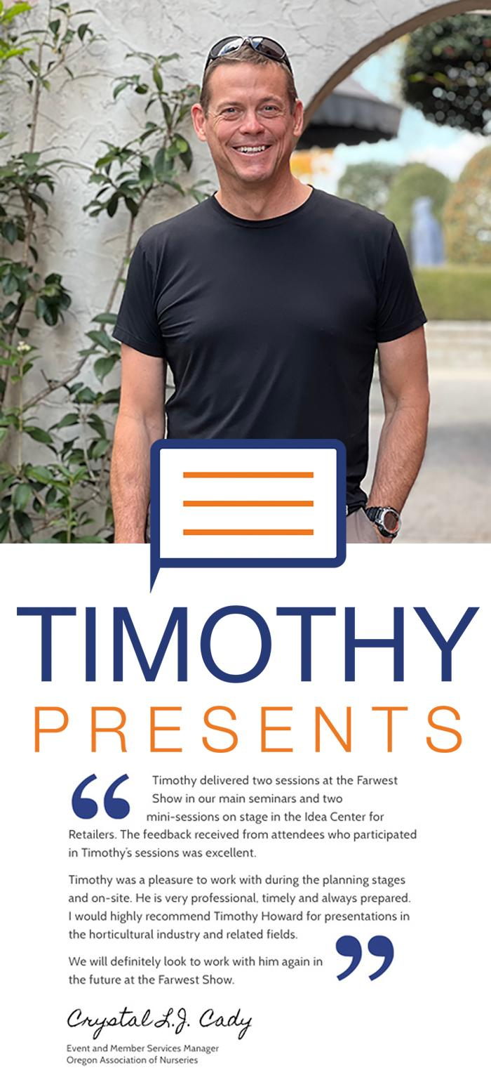 Timothy is the founder and president of Clarity Connect, Inc. He utilizes 25+ years of real world marketing experience to create practical marketing solutions.